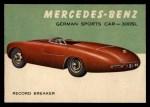 1954 Topps World on Wheels #27   Mercedes-Benz 300-SL Front Thumbnail