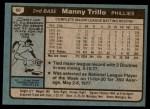 1980 Topps #90  Manny Trillo  Back Thumbnail