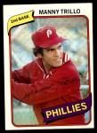 1980 Topps #90  Manny Trillo  Front Thumbnail