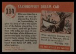 1954 Topps World on Wheels #114   Sakhnoffsky Dream Car Back Thumbnail
