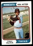 1974 Topps #190  Tony Oliva  Front Thumbnail