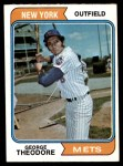 1974 Topps #8  George Theodore  Front Thumbnail