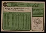 1974 Topps #270  Ron Santo  Back Thumbnail