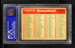 1959 Topps #8   Phillies Team Checklist Back Thumbnail
