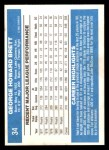 1982 Donruss #34  George Brett  Back Thumbnail