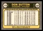 1981 Fleer #112  Don Sutton  Back Thumbnail