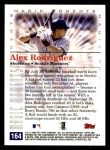 2000 Topps Opening Day #164   -  Alex Rodriguez Magic Moments Back Thumbnail