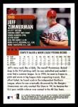 2000 Topps Opening Day #96  Jeff Zimmerman  Back Thumbnail