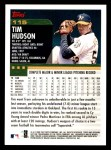 2000 Topps Opening Day #115  Tim Hudson  Back Thumbnail