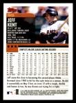 2000 Topps Opening Day #95  Jeff Kent  Back Thumbnail