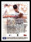 2000 Topps Opening Day #107   -  Cal Ripken Magic Moments Back Thumbnail