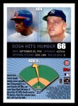 1999 Topps Opening Day #164  Sammy Sosa  Back Thumbnail