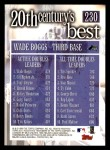 2000 Topps #230   -  Wade Boggs 20th Century's Best Back Thumbnail