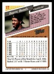 1993 Topps Traded #1 T Barry Bonds  Back Thumbnail