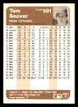 1983 Fleer #601  Tom Seaver  Back Thumbnail