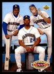1993 Upper Deck #55  Ken Griffey Jr. / Jay Buhner /Kevin Mitchell  Front Thumbnail