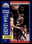 1991 Fleer #378   -  Dikembe Mutombo Nuggets Leaders Front Thumbnail