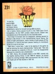 1991 Fleer #231   -  Shawn Kemp Slam Dunk Back Thumbnail