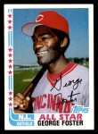 1982 Topps #342 A  -  George Foster All-Star Front Thumbnail