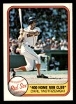 1981 Fleer #638   -  Carl Yastrzemski 400 HOME RUN CLUB Front Thumbnail