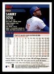2000 Topps #50  Sammy Sosa  Back Thumbnail