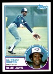 1983 Topps #488  Alfredo Griffin  Front Thumbnail