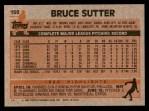 1983 Topps #150  Bruce Sutter  Back Thumbnail