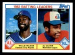 1983 Topps #701   -  Willie Wilson / Al Oliver Batting Leaders Front Thumbnail