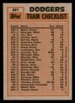 1983 Topps #681   -  Fernando Valenzuela / Pedro Guerrero Dodgers Leaders Back Thumbnail