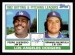 1983 Topps #681   -  Fernando Valenzuela / Pedro Guerrero Dodgers Leaders Front Thumbnail