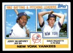 1983 Topps #81   -  Jerry Mumphrey / Dave Righetti Yankees Leaders Front Thumbnail