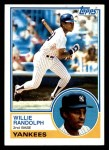 1983 Topps #140  Willie Randolph  Front Thumbnail
