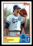 1983 Topps #396   -  Dan Quisenberry All-Star Front Thumbnail