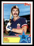 1983 Topps #387   -  Bobby Grich All-Star Front Thumbnail
