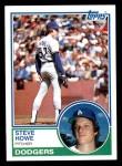 1983 Topps #170  Steve Howe  Front Thumbnail