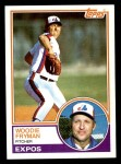1983 Topps #137  Woody Fryman  Front Thumbnail