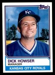 1983 Topps #96  Dick Howser  Front Thumbnail