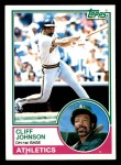 1983 Topps #762  Cliff Johnson  Front Thumbnail