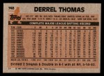 1983 Topps #748  Derrel Thomas  Back Thumbnail
