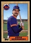 1987 Topps #350  Keith Hernandez  Front Thumbnail