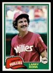 1981 Topps #120  Larry Bowa  Front Thumbnail