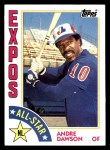 1984 Topps #392   -  Andre Dawson All-Star Front Thumbnail