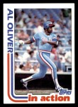 1982 Topps #591   -  Al Oliver In Action Front Thumbnail