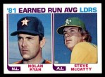 1982 Topps #167   -  Steve McCatty / Nolan Ryan ERA Leaders Front Thumbnail