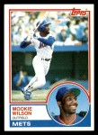 1983 Topps #55  Mookie Wilson  Front Thumbnail