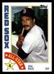 1984 Topps #401   -  Jim Rice All-Star Front Thumbnail