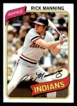 1980 Topps #564  Rick Manning  Front Thumbnail