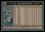 1980 Topps #280  Gaylord Perry  Back Thumbnail