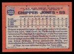 1991 Topps #333  Chipper Jones  Back Thumbnail
