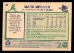 1983 O-Pee-Chees #39  Mark Messier  Back Thumbnail